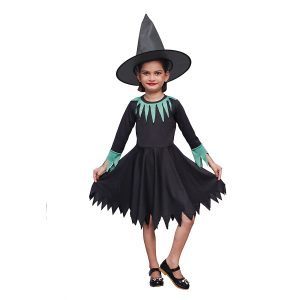 Witch Costume Dress for Kids Girls Set...